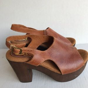 Sbicca Vintage Collection Leather Chunky Heel Shoe